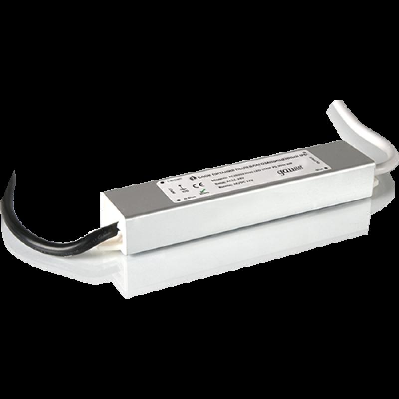 Блок питания для светодиодной ленты пылевлагозащищенный 15W 12V IP66 (202023015)