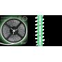 Светодиодная лента влагозащищённая 2835/60SMD 4.8W 12V зеленый свет IP66 (блистер 5м) 311000605