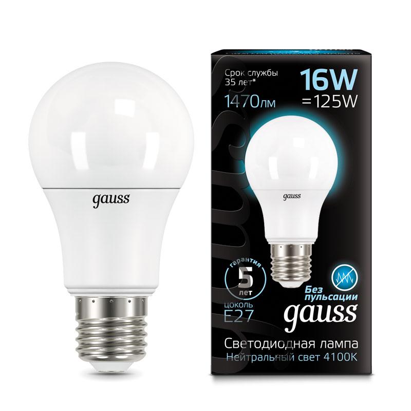 ЛОН светодиодная лампа Gauss A70 22W E27 1640lm 4100K (102502222)